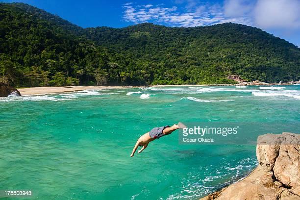 Diving at paradise