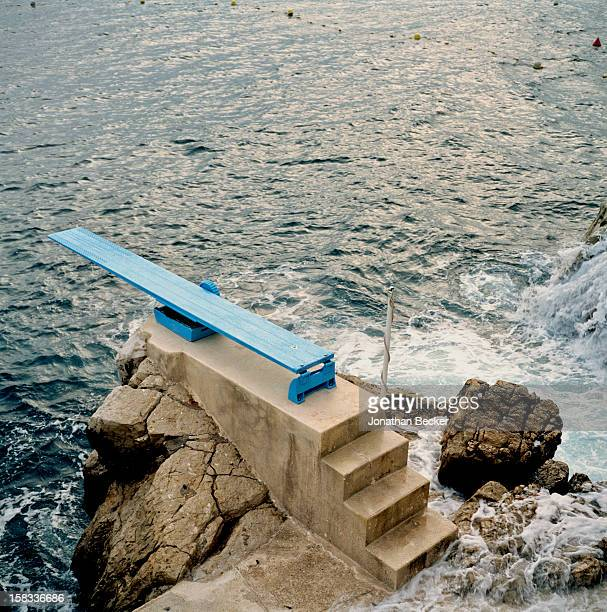 Diving board at the Hotel du CapEdenRoc is photographed for Vanity Fair Magazine on May 17 2008 at the in Cannes France PUBLISHED IN JONATHAN BECKER...