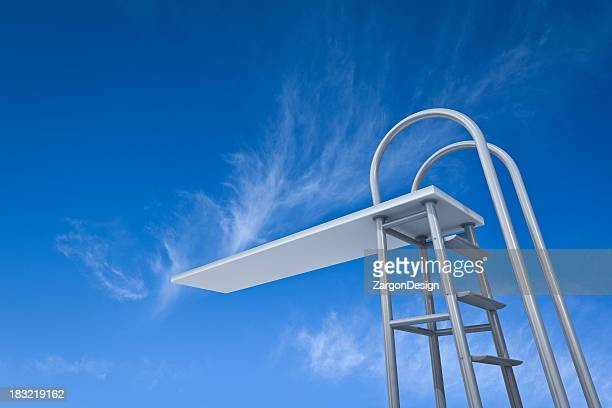 diving board - diving board stock pictures, royalty-free photos & images