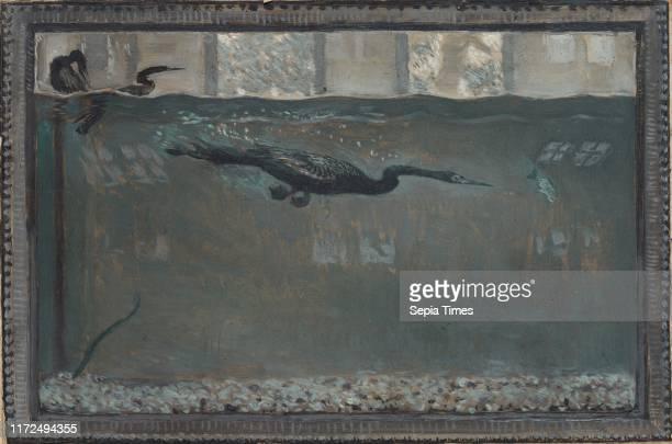 Diving Cormorant, 1900. Otto H. Bacher . Oil on board; unframed: 23 x 33.2 cm .