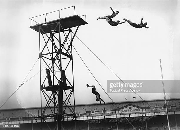 Diving during the 1908 Summer Olympics at White City Stadium in London July 1908