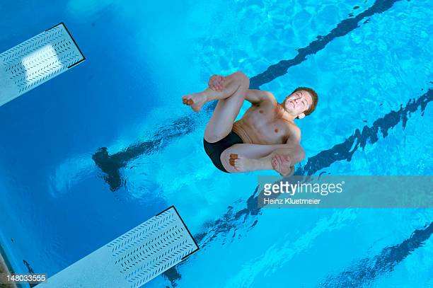 FINA USA Grand Prix Australia Ethan Miller in action during Men's 3M Springboard preliminaries at Fort Lauderdale Aquatic Complex Fort Lauderdale FL...