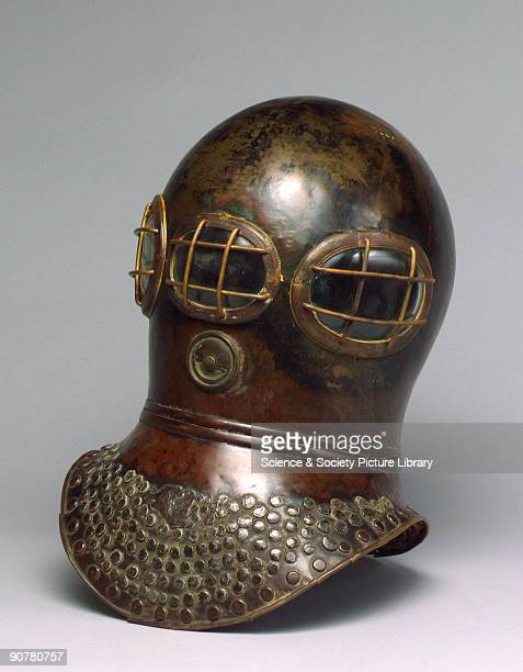Diving helmet made by Augustus Siebe which was probably used by the Deane Brothers of Deptford London Augustus Siebe a pioneer of early helmet diving...