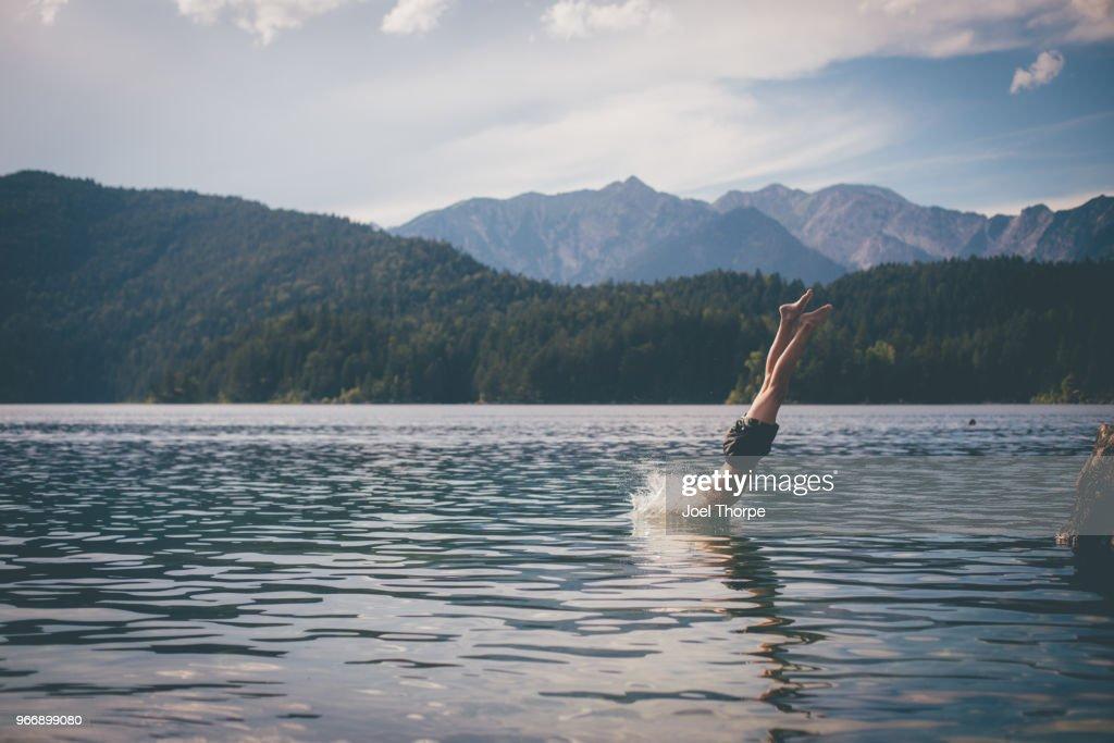 Diving into Bavaria : Stock Photo