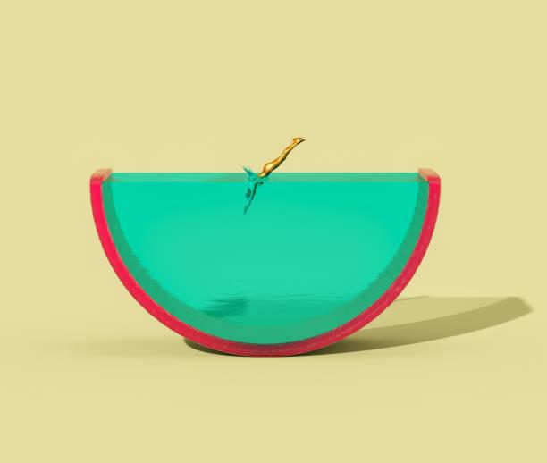 Diving into juicy fruit