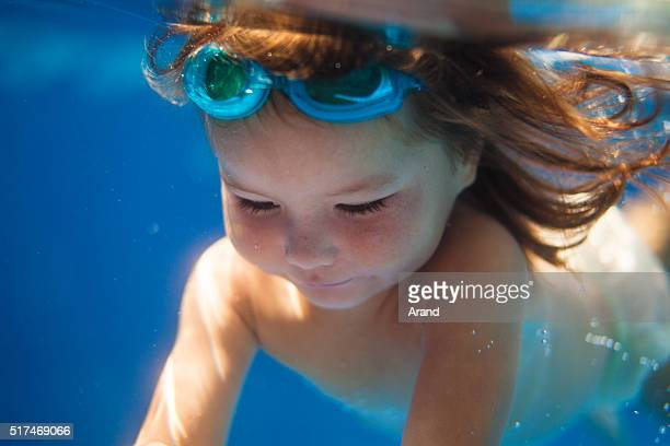 diving kid - bottomless girls stock photos and pictures