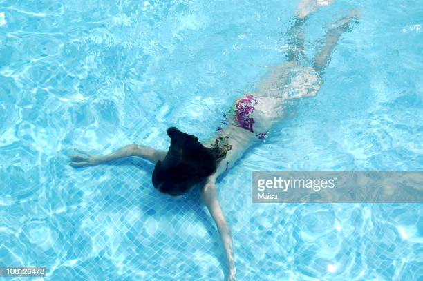 diving - bottomless girls stock photos and pictures