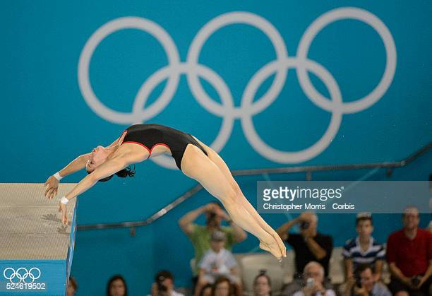 Diving-Women's 10 metre platform- semi-finals Day 13: Yulia Koltunova of Russia diving at the Aquatic Centre during the 2012 London Olympic Games.