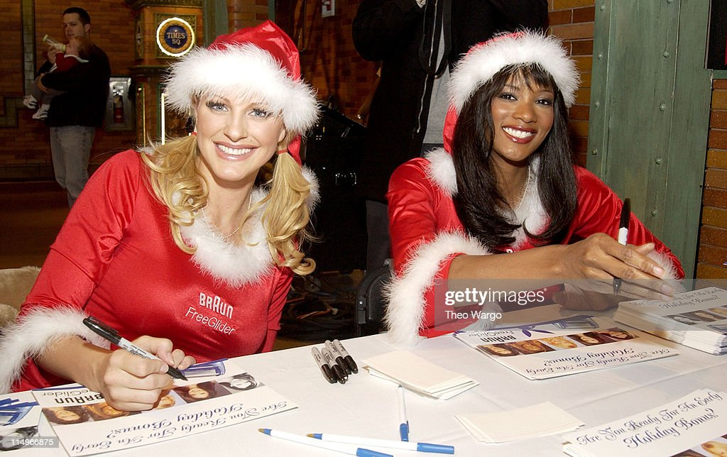Braun Free Glider Hosts Pre-Holiday Pampering Session Featuring Playboy Playmates : News Photo