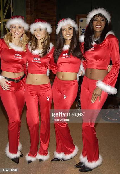 Divini Rae, March 2003 Playmate, Lauren Michelle Hill, February 2003 Playmate, Christina Santiago, 2003 Playmate of the Year and Serria Tawan,...
