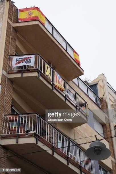 Division between Spain and Catalunya, Badalona, Spain