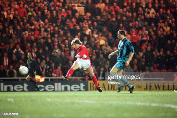 Division One match Middlesbrough 6 0 Swindon Town held at the Riverside Stadium 11th March 1998