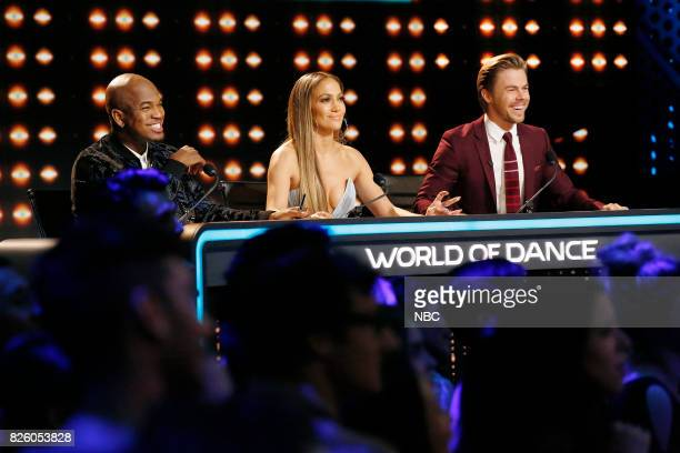 DANCE Divisional Finals Episode 109 Pictured NeYo Jennifer Lopez Derek Hough