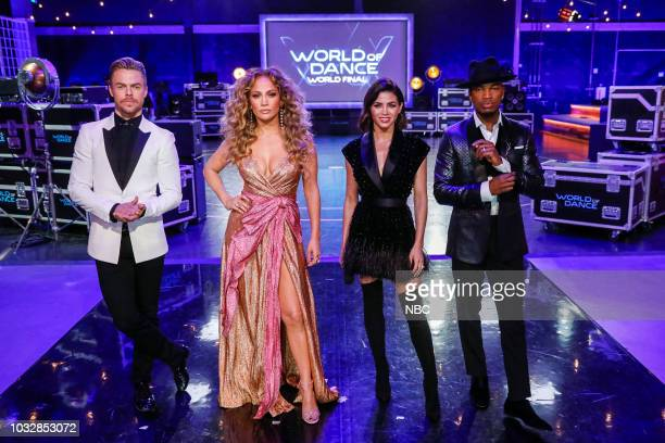 DANCE Divisional Finals Pictured Derek Hough Jennifer Lopez Jenna Dewan NeYo