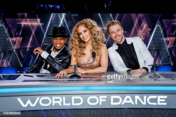 DANCE Divisional Finals Pictured NeYo Jennifer Lopez Derek Hough