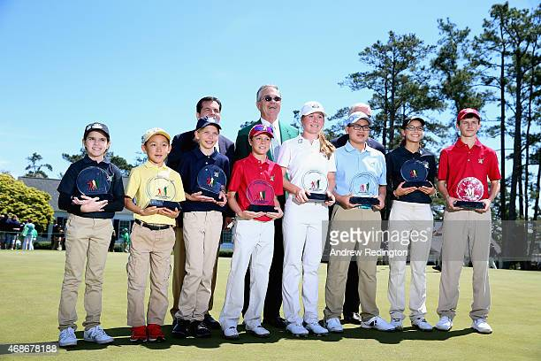 Divisional winners Effie Perakis Jay Leng Jr Lydia Swan Jake Peacock Morgan Goldstein George Duangmanee Alexandra Swayne and Toby Wilson pose with...