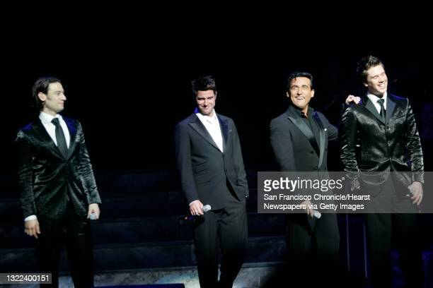 Divo_111_ls.jpg From left: Urs Buhler, Sebastian Izambard, Carlos Marin and David Miller . Shoot for use with Datebook review of Il Divo, a very...