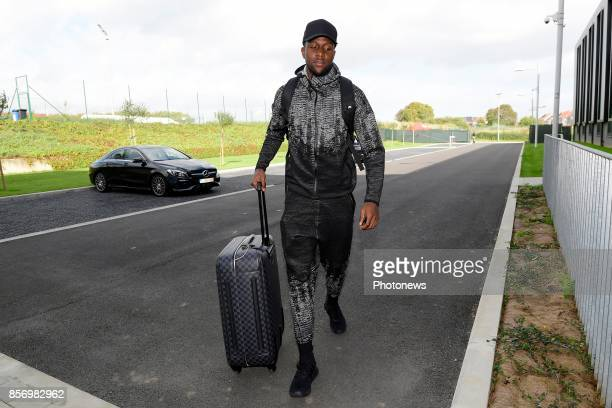 Divock Origi forward of Belgium arrives at the Martin's Red hotel prior to the World Cup 2018 qualification games against Bosnia and Herzegovina and...