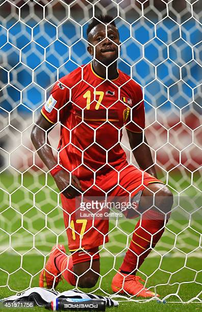 Divock Origi of Belgium reacts after a missed chance during the 2014 FIFA World Cup Brazil Round of 16 match between Belgium and the United States at...