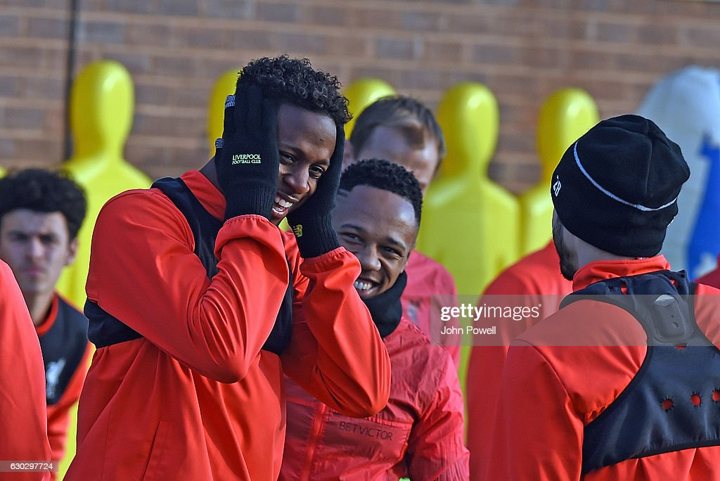 Divock Origi of Liverpool at Melwood Training Ground on December 20, 2016 in Liverpool, England.