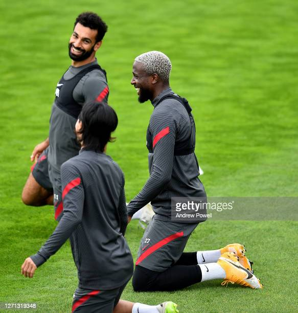 Divock Origi of Liverpool during a training session at Melwood Training Ground on September 08 2020 in Liverpool England