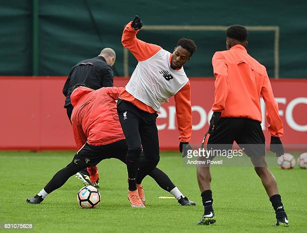 Divock Origi of Liverpool during a training session at Melwood Training Ground on January 6 2017 in Liverpool England