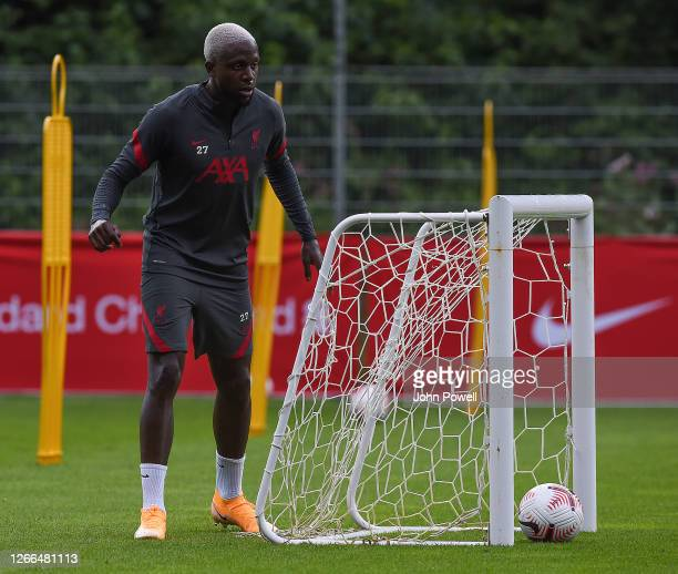 Divock Origi of Liverpool during a training session on August 15 2020 in Salzburg Austria