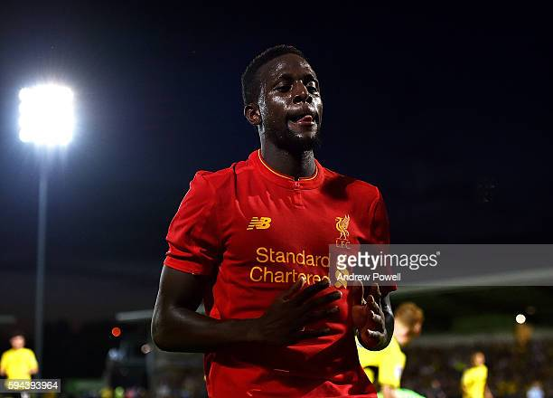 Divock Origi of Liverpool during the EFL Cup match between Burton Albion and Liverpool at the Pirelli Stadium on August 23 2016 in Burton upon Trent...