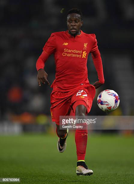 Divock Origi of Liverpool during the EFL Cup Third Round match between Derby County and Liverpool at iPro Stadium on September 20 2016 in Derby...