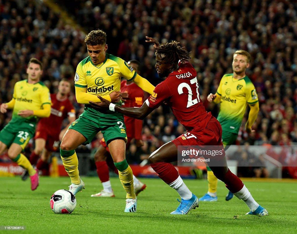 Liverpool FC v Norwich City - Premier League : Nieuwsfoto's