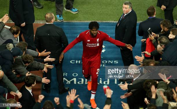 Divock Origi of Liverpool makes his way back into the tunnel after the final whistle during the UEFA Champions League Semi Final second leg match...
