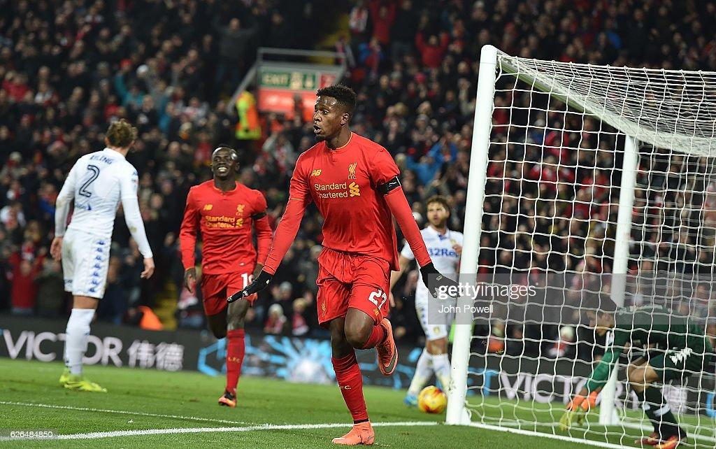 Liverpool v Leeds United - EFL Cup Quarter-Final : News Photo