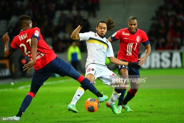 Divock ORIGI / Roy CONTOUT / Djibril SIDIBE Lille / Sochaux 24e journee Ligue 1 Photo Dave Winter / Icon Sport