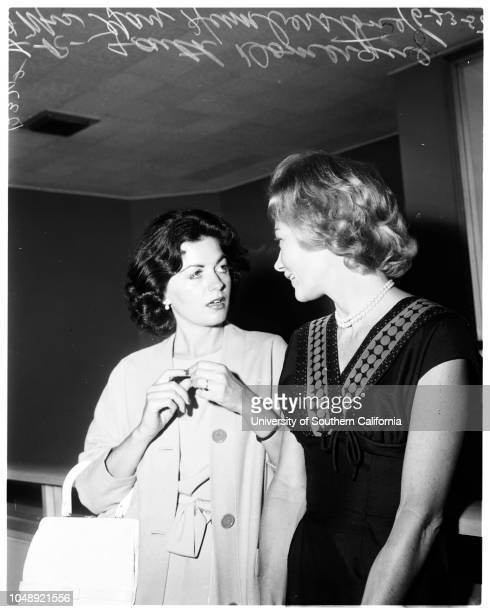 Divorce 23 June 1958 Faith Domergue Mrs Gay Humberstone Caption slip reads 'Photographer Sandusky Date Assignment Faith Domergue divorce [sic]...