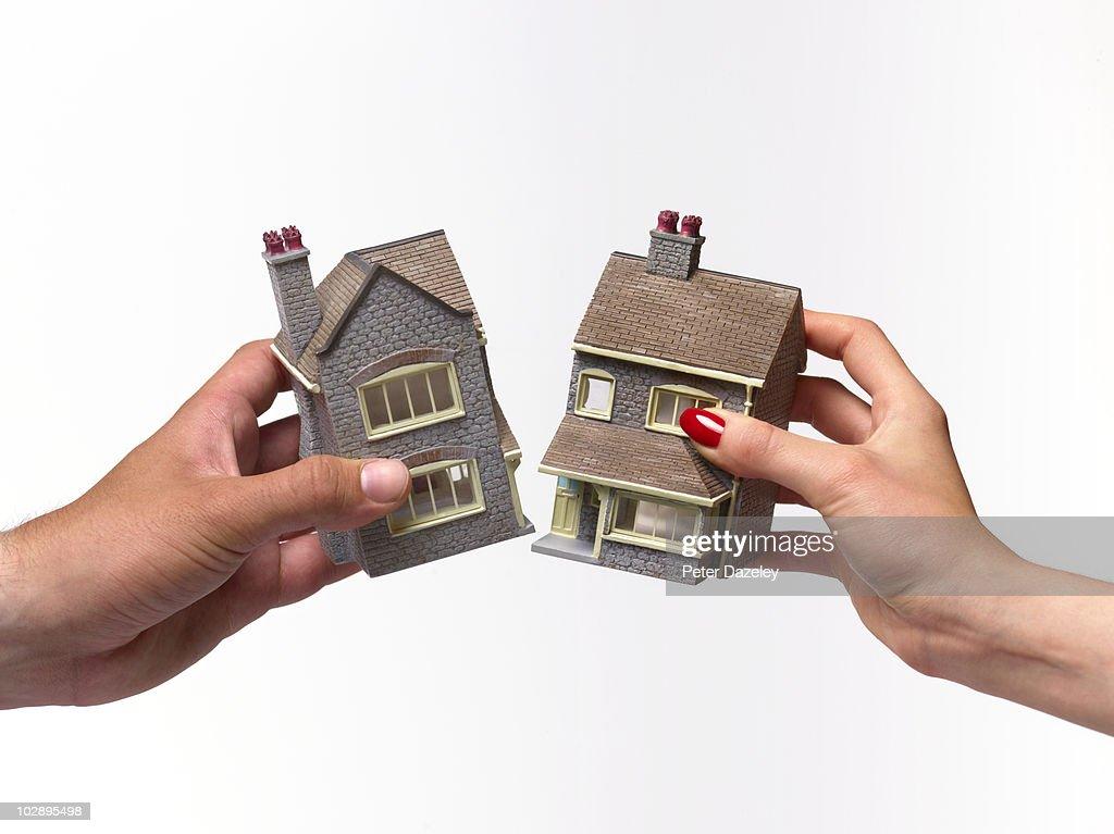 Divorce house settlement : Stock Photo