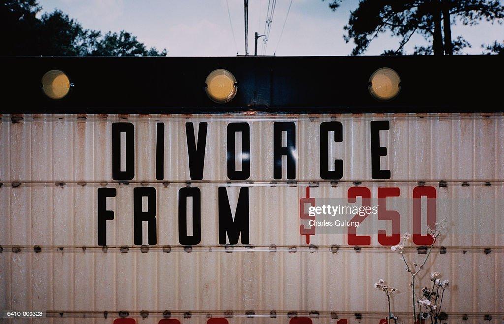 Divorce Sign : Stock Photo