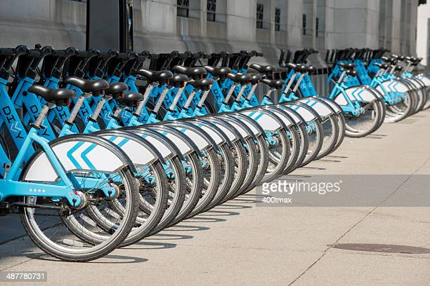 divvy rental station - april fool stock photos and pictures