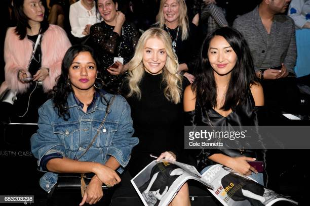 Divya Barla Beittony Lane and Yeong Sassall attend the Justin Cassin show at MercedesBenz Fashion Week Resort 18 Collections at Carriageworks on May...