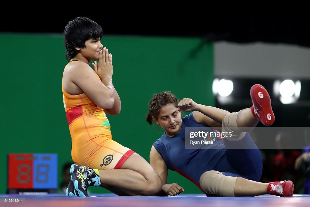 Wrestling - Commonwealth Games Day 9 : News Photo
