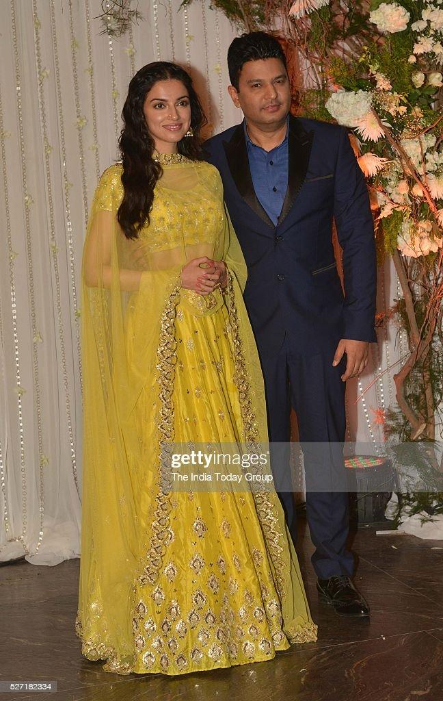 Divya Khosla at Bipasha Basu and Karan Singh Grovers wedding reception ceremony at St Regis Hotel in Mumbai