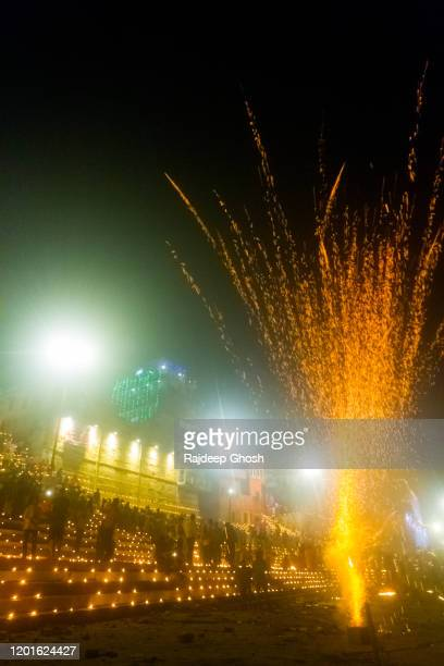 diwali celebration in india - diya oil lamp stock pictures, royalty-free photos & images
