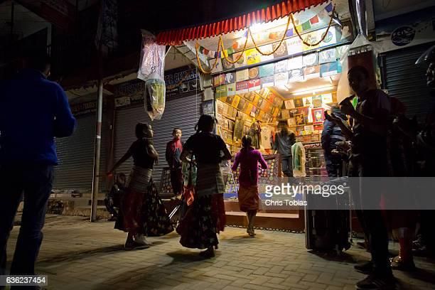Diwali Dancers in Thamel, Kathmandu, Nepal