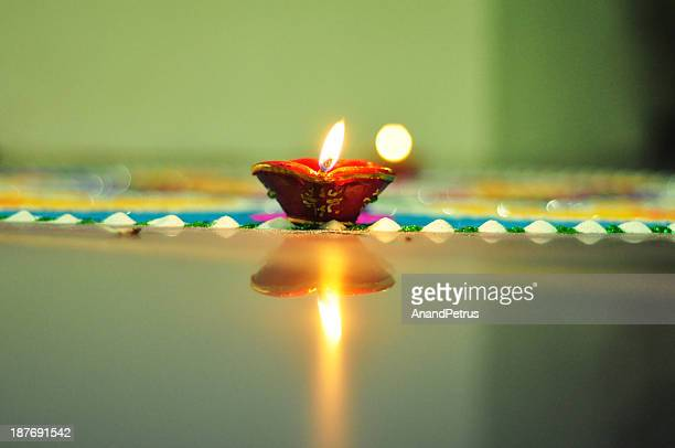 diwali diya - rangoli stock pictures, royalty-free photos & images