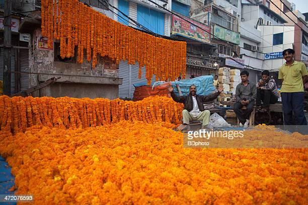 Diwali flowers in New Delhi, India