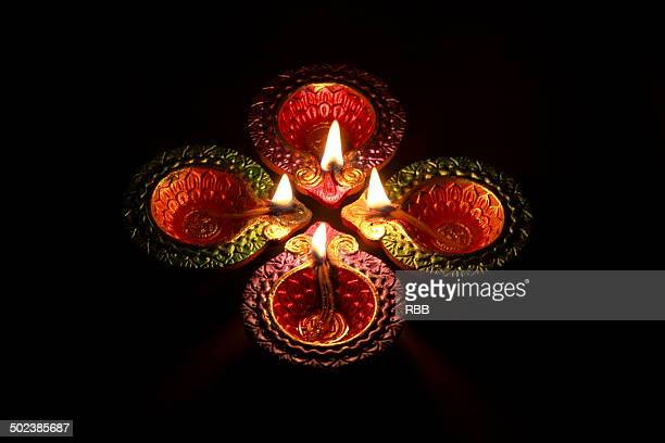 diwali lamps - diya oil lamp stock pictures, royalty-free photos & images