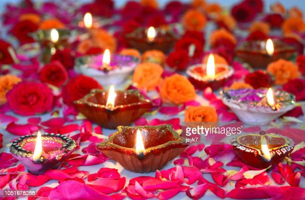 diwali lights - religious celebration stock pictures, royalty-free photos & images