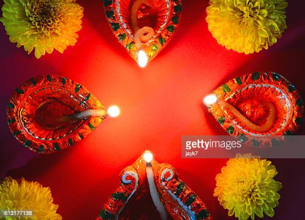 diwali lights - rangoli stock pictures, royalty-free photos & images