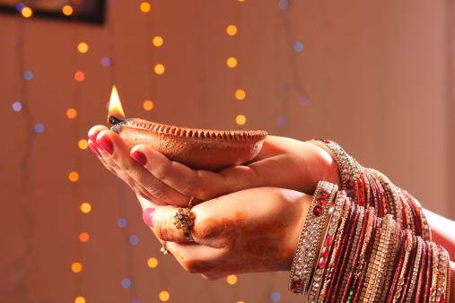 Diwali oil lamp 177432058