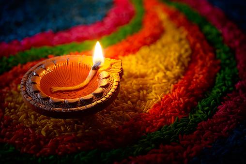 Diwali oil lamp 482787414