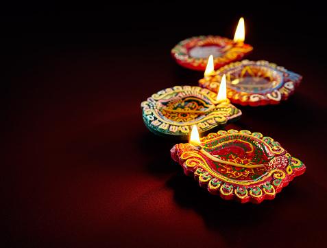 Diwali oil lamp 483675384